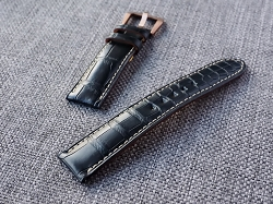 Black Alligator Straps- Custom order